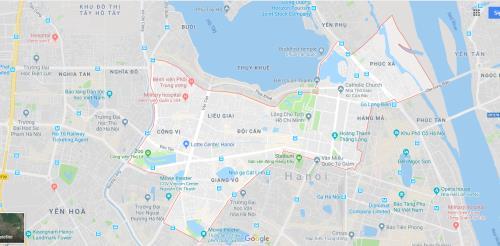 Bản đồ quy hoạch chi tiết quận Ba Đình, Hà Nội